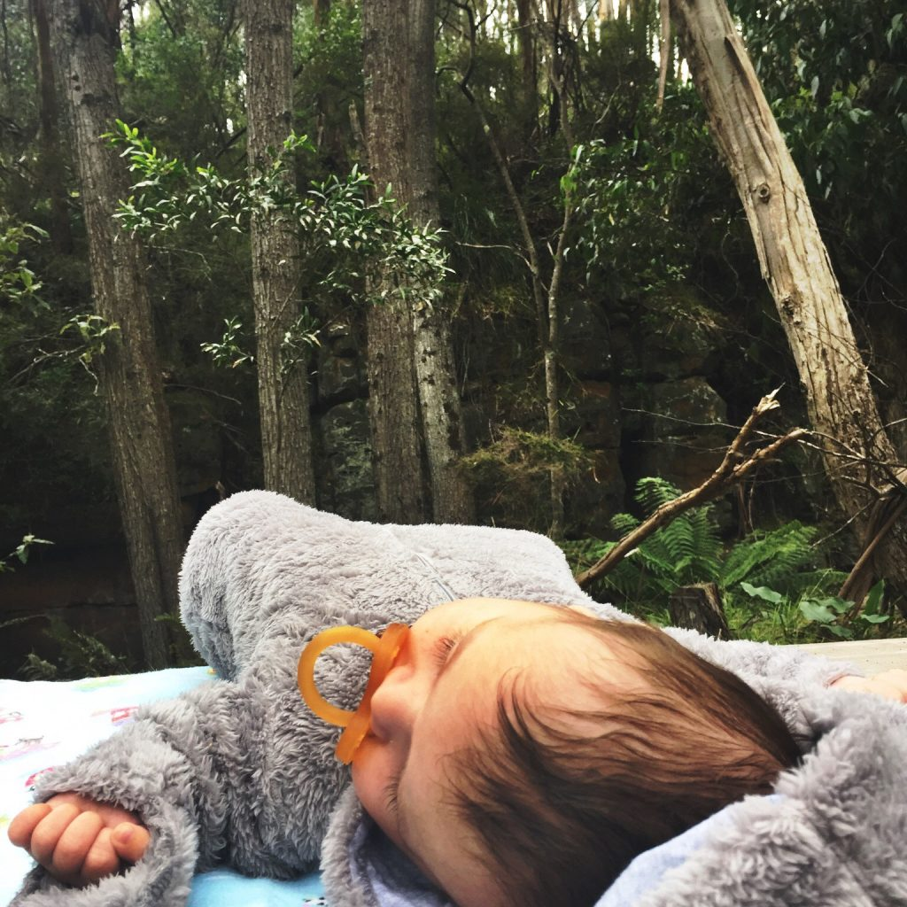 Baby in the woods